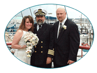Captain Larry performing wedding ceremony