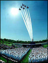 Blue Angels at Naval Academy graduation